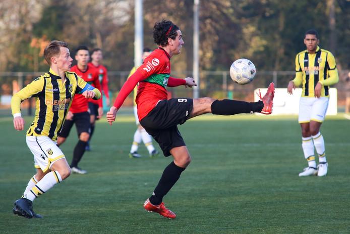 Een jeugdwedstrijd van NEC.