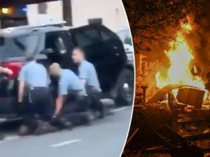 De nouvelles images de l'arrestation de George Floyd montrent trois policiers assis sur son dos
