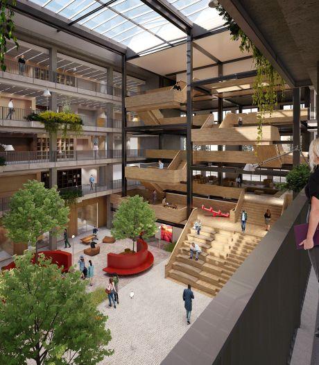 Zo komt het nieuwe stadhuis van Helmond eruit te zien: open, groen en met een bijzonder 'traplandschap'
