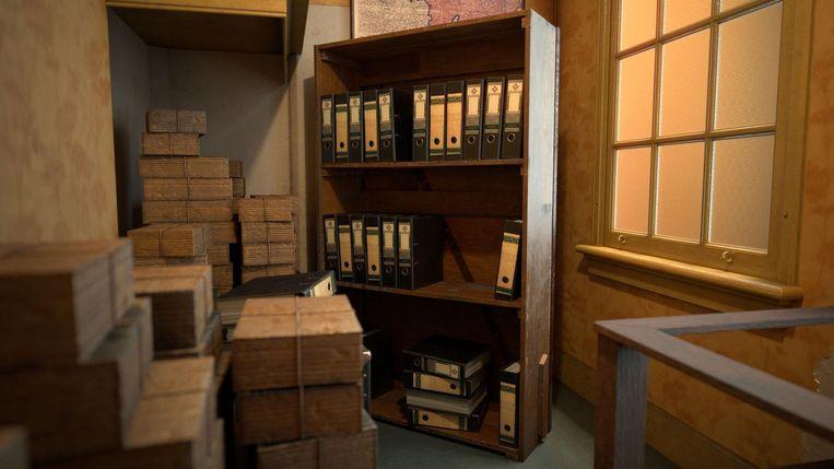 De boekenkast waar de ingang van het Achterhuis achter verborgen was Beeld Anne Frank Huis