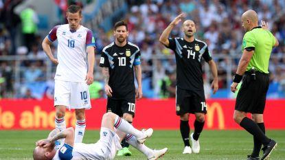 Wanneer de scheidsrechter een bonkige IJslander dan toch weet te vellen