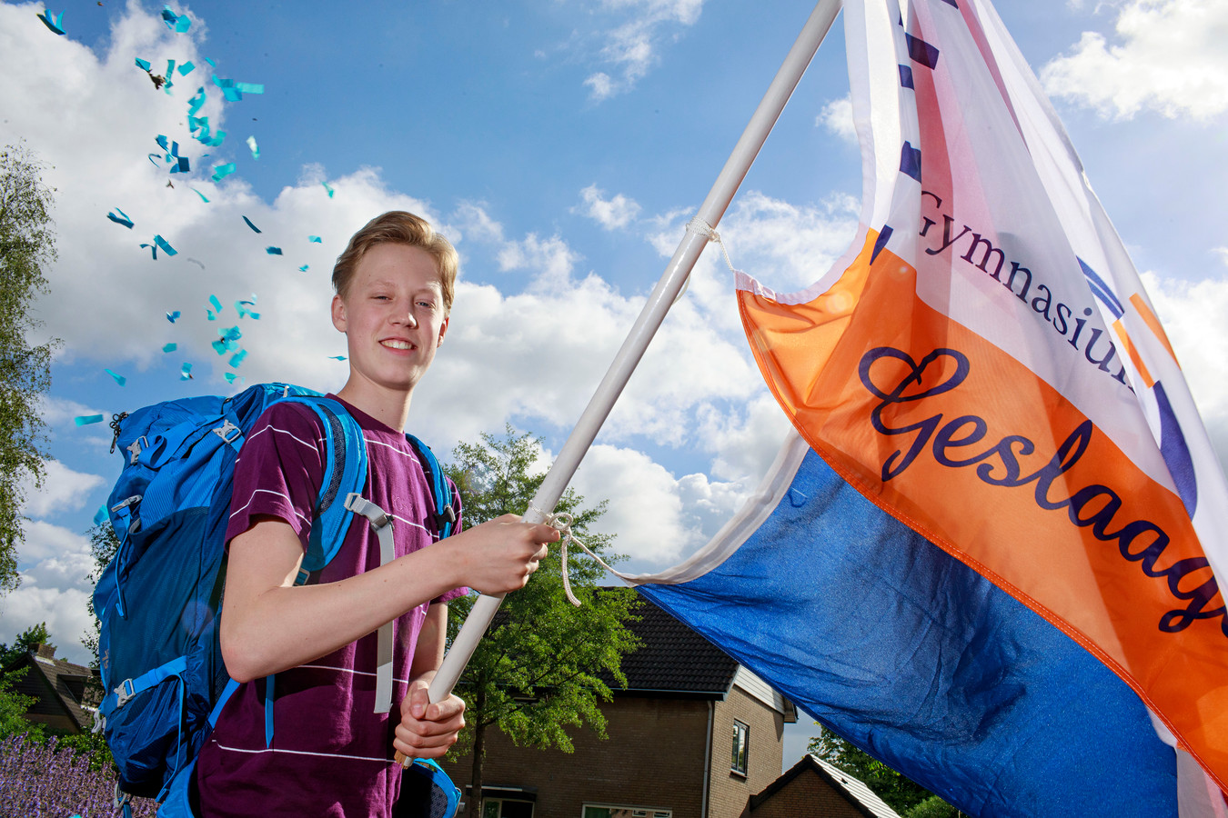 Met zijn slagen heeft de 17-jarige  Luc Muselaers uit Sint-Michielsgestel ook twee vliegtickets gewonnen.
