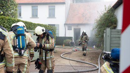 Centrum Ouwegem afgesloten door brand