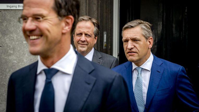 Mark Rutte, Alexander Pechtold en Sybrand Buma Beeld ANP