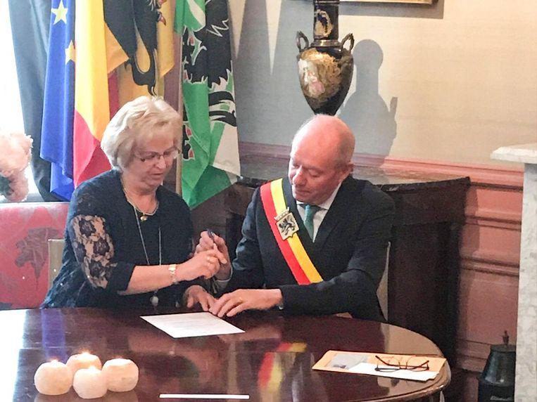 Marleen Gyselinck legde gisteren bij de gouverneur de eed af.