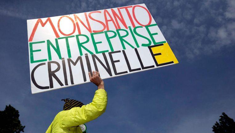 Een demonstratie tegen Monsanto in Parijs. Beeld afp