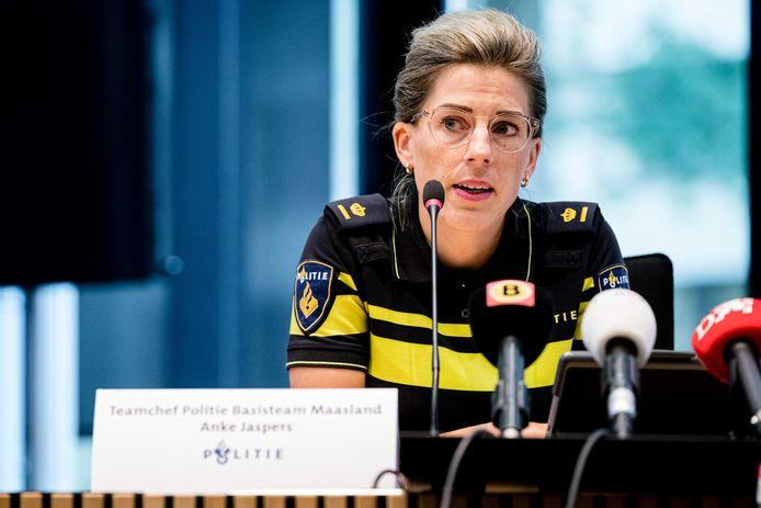 Teamchef van politie-basisteam Maasland Anke Jaspers.