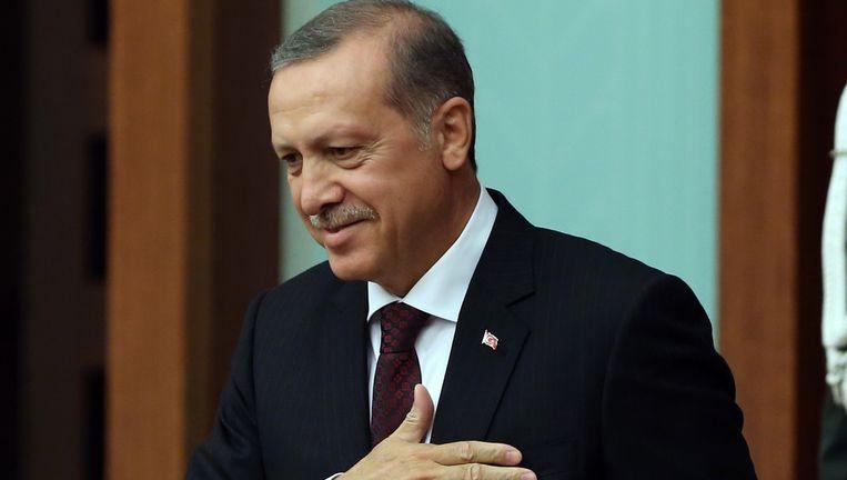 De Turkse president Erdogan ziet de Koerdische militaire successen met lede ogen aan.