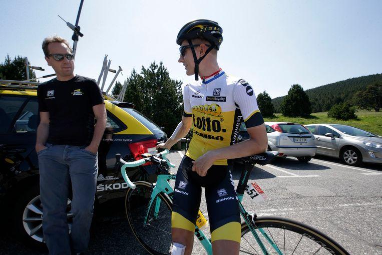 Merijn Zeeman met Wilco Kelderman (toen nog bij Lotto-Jumbo).
