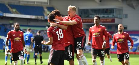 ManUnited krijgt penalty na laatste fluitsignaal en wint in Brighton