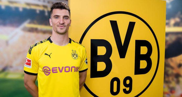 Meunier in het shirt van Dortmund.