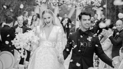 Sophie 'Sansa Stark' Turner deelt eerste foto's van haar bruidsjurk