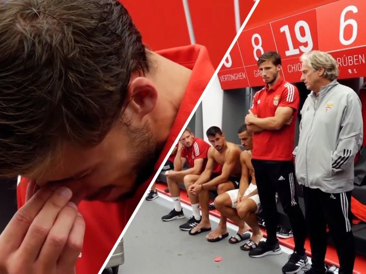 Rúben Dias in tranen bij afscheid Benfica