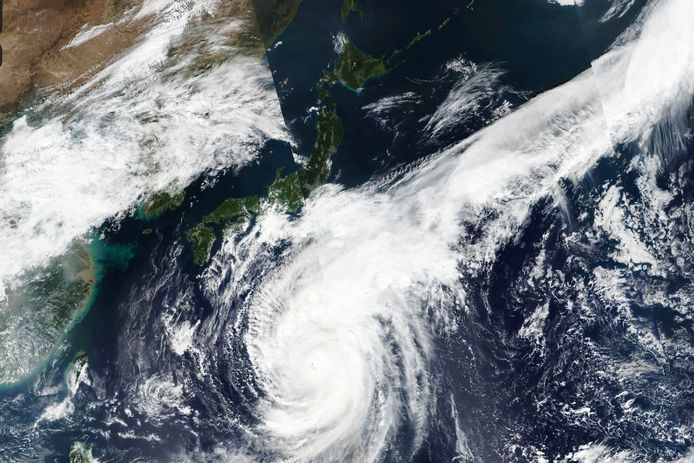 Supertyfoon Hagibis raast op Japan af.