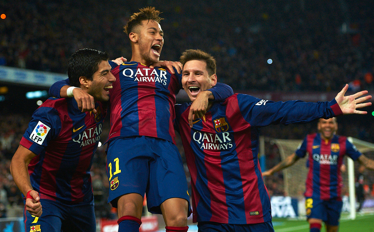 Luis Suárez, Neymar en Lionel Messi.