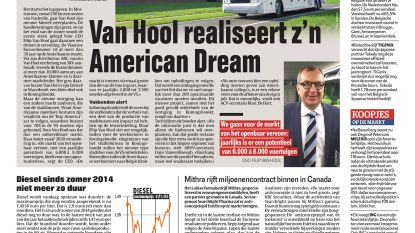 Van Hool realiseert z'n American Dream