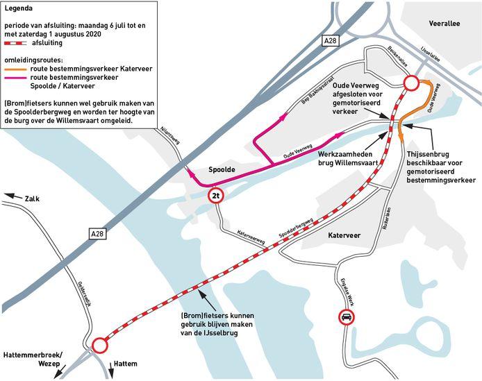Zwolle: Afsluiting IJsselbrug en andere wegen door werkzaamheden in Zwolle.