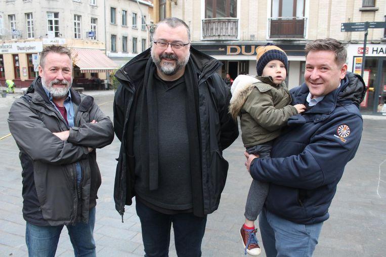 Stichter Jo Lories (midden) kan alvast rekenen op Bruno Vandierendonck (l.) en Joris Savenberg (r.).