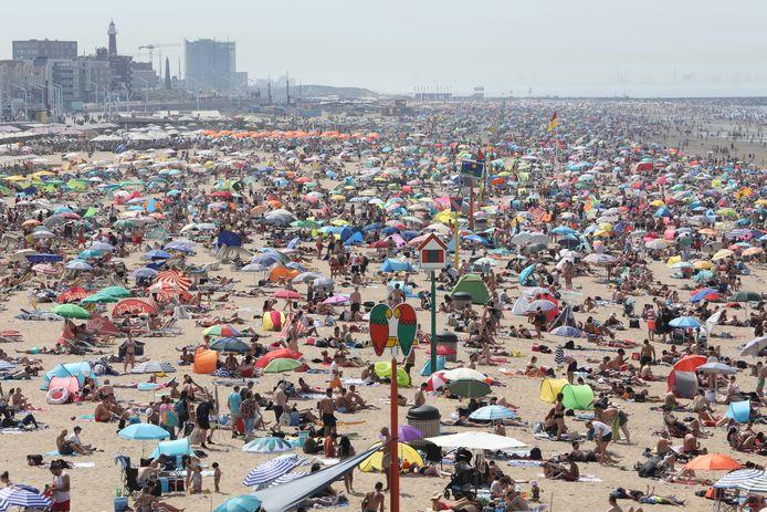Het was zaterdag de drukste dag op het strand.