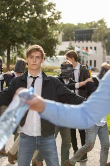 Fotograaf krijgt duw tijdens ontgroening Leidse studenten