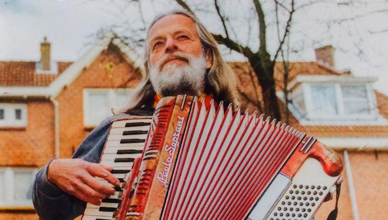Jos de Rooij op de hoes van zijn album over Amsterdam Noord Beeld -