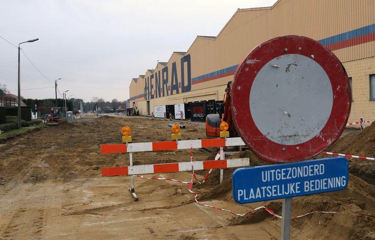 Ook op de Herenthoutseweg in Herentals zijn er wegenwerken aan de gang.