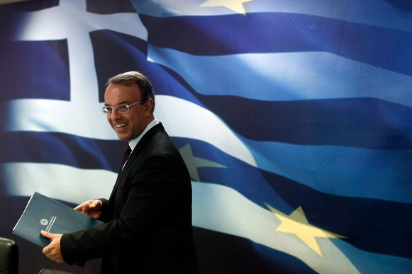 De Griekse minister van Financiën Christos Staikouras.