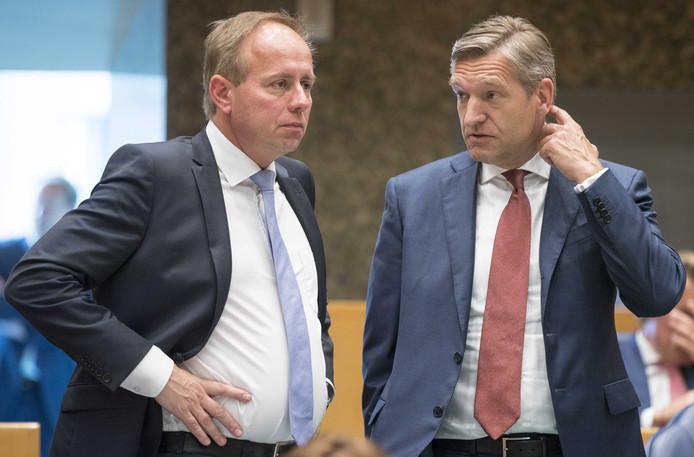 Kees van der Staaij (SGP) en Sybrand Buma (CDA)