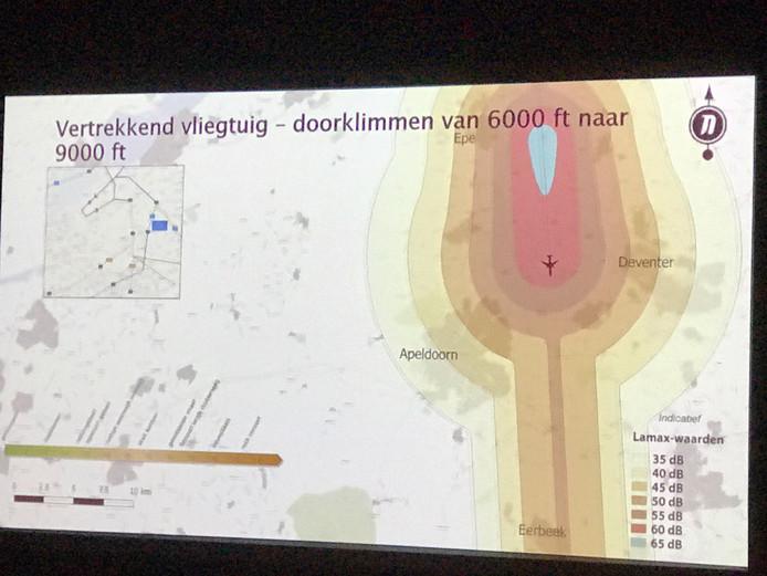 De geluidsgevolgen van de nieuwe vliegroutes rond het vliegveld in Lelystad.