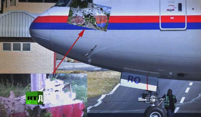 Een deskundige zegt dat op foto's van de wrakstukken duidelijke 'kanonsgaten' te zien zijn, nadat een straaljager had gevuurd.