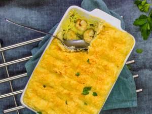 Wat Eten We Vandaag: Ovenschotel garnalen met appel en boontjes