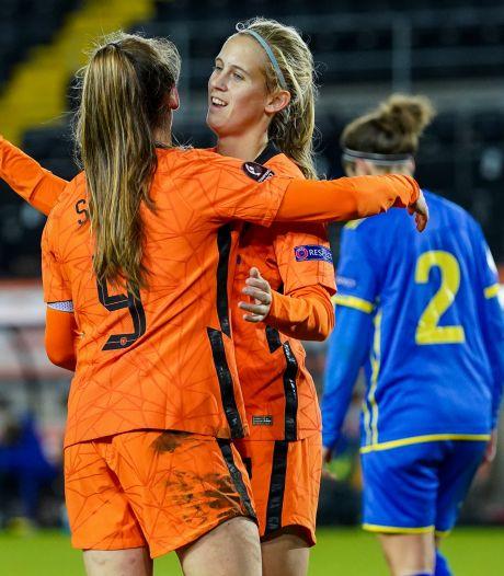 Katja Snoeijs op schot in Oranje, met dank aan Kosovo
