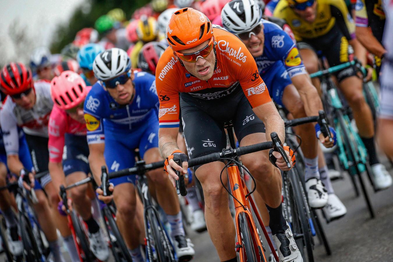 Lars Boom tijdens de eerste etappe van de BinckBank Tour gisteren.