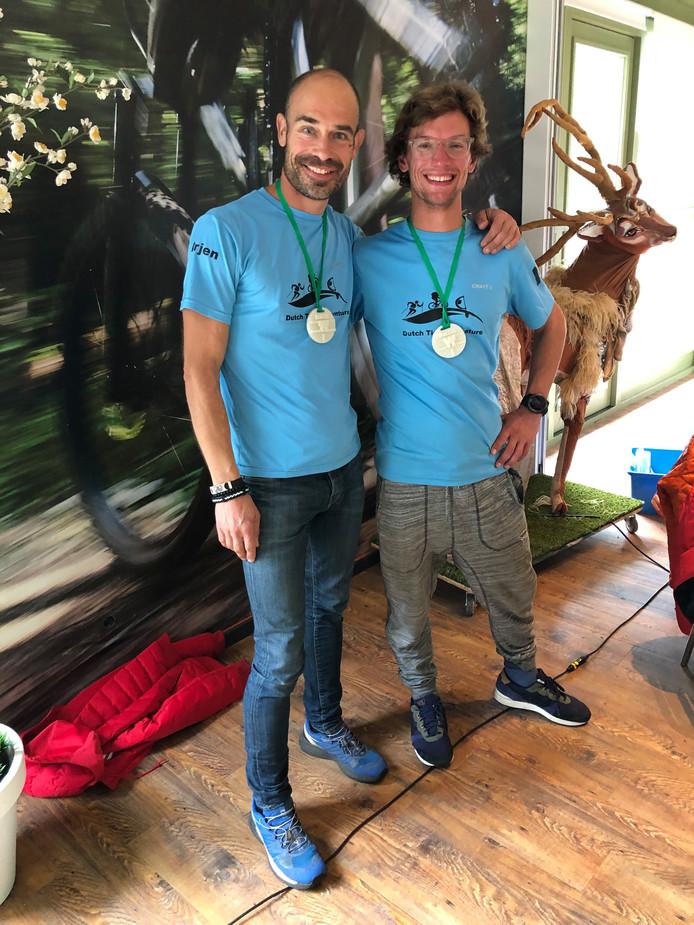Arjen van der Berg en Pieter Butterbrod hebben de 32-uurs Adventure Race in Drenthe op hun naam geschreven.