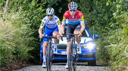 """Alaphilippe verkende parcours Ronde van Vlaanderen: """"Stak veel op en kreeg veel advies"""""""