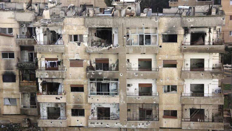 Het door de strijd verwoeste Homs. Beeld reuters