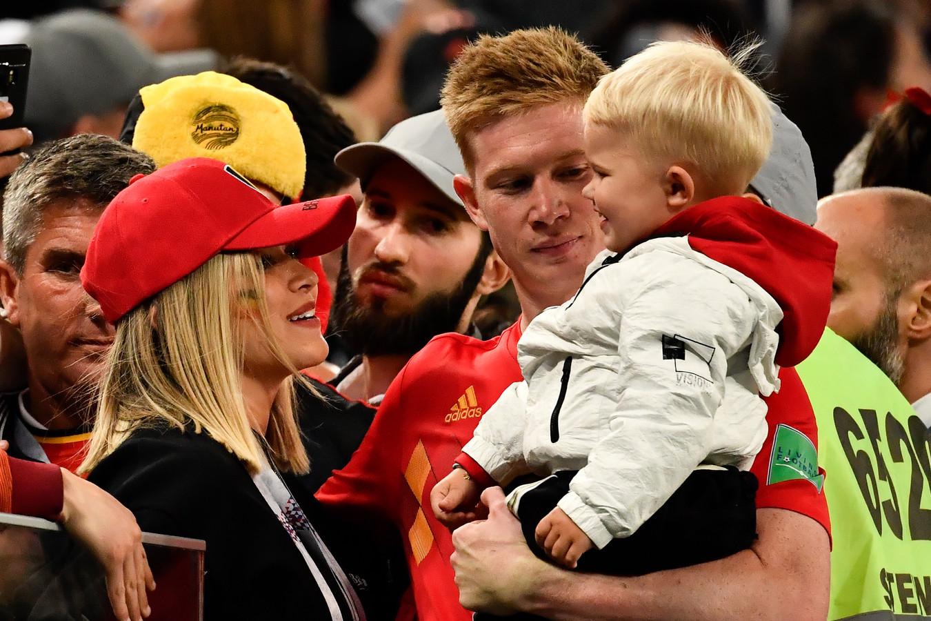 Kevin De Bruyne en famille