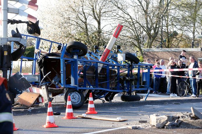 De bierfiets na het fatale ongeval.