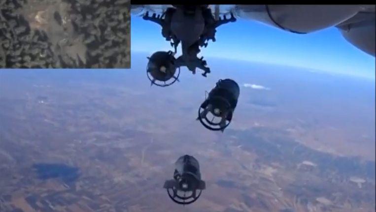 Een still van eerdere videobeelden van het Russische ministerie van Defensie Beeld ANP