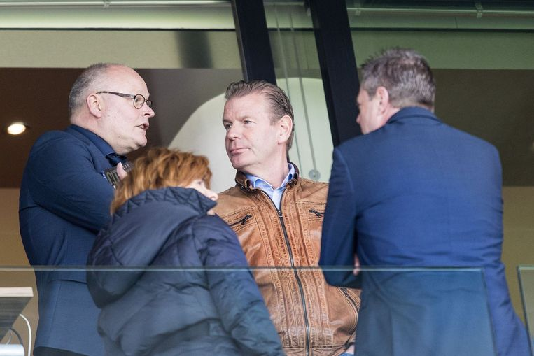 Ex-directeur van ADO Den Haag, Jan Willem Wigt tijdens de wedstrijd ADO Den Haag. Beeld photo_news