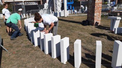 De 7.000 dominostenen krijgen een tweede leven na stunt in Gentbrugge en Ledeberg