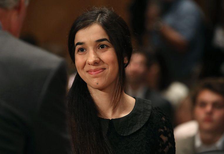 Nadia sprak ook al voor een groot publiek op Capitol Hill.