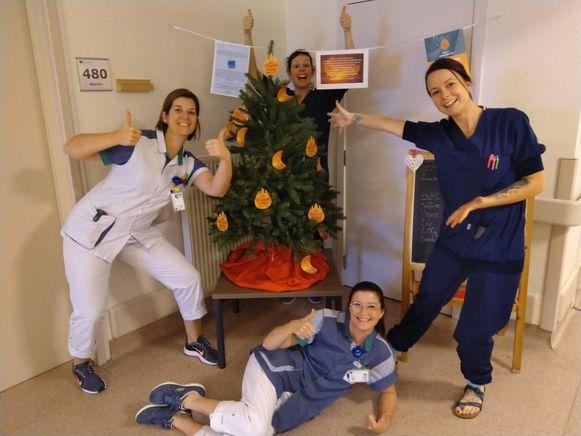 Vroedvrouwen van het Heilig Hartziekenhuis in Mol.