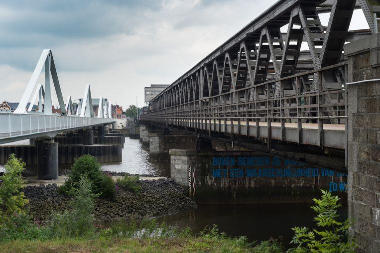 De Vlaamse Waterweg start op maandag 6 mei met renovatiewerken op de oude Scheldebrug tussen Bornem en Temse