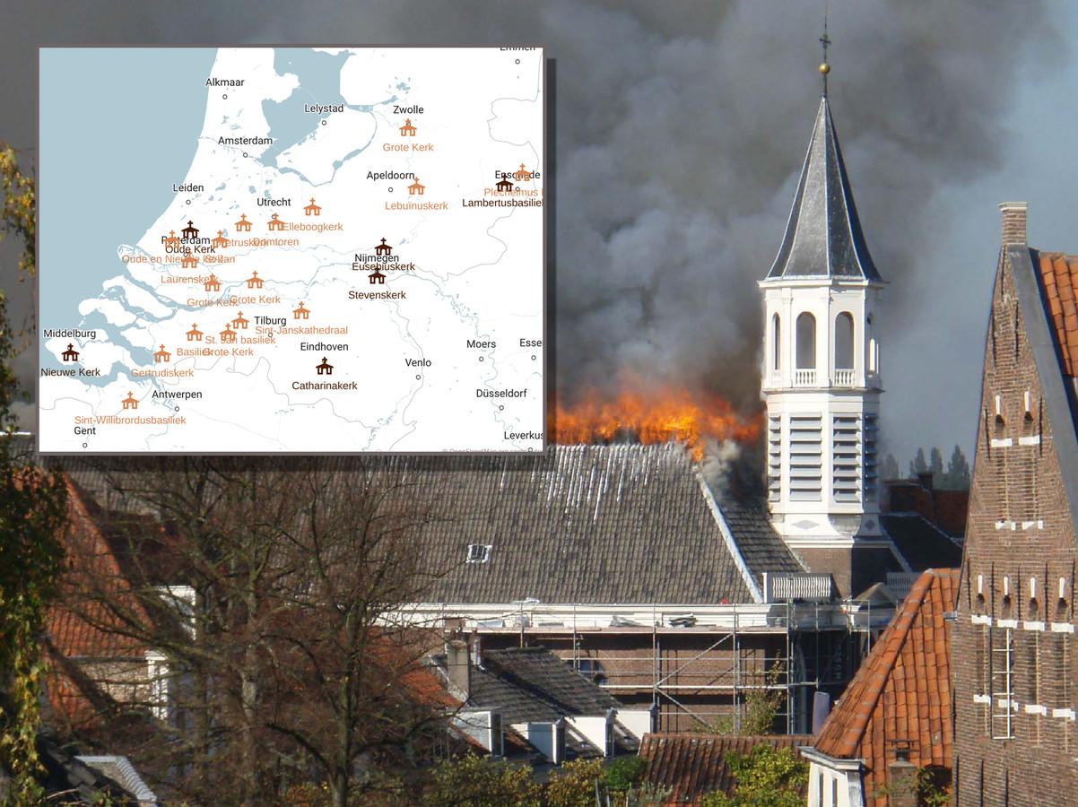 De brand in de Notre-Dame in Parijs roept in Amersfoort herinneringen op aan de brand die in 2007 de Elleboogkerk verwoestte, mét de collectie van kunstenaar Armando.