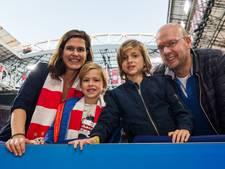 Fieldseats Ajax-Sparta voor Sandrine uit Woerden