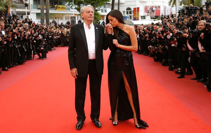 Alain Delon et Anouchka.