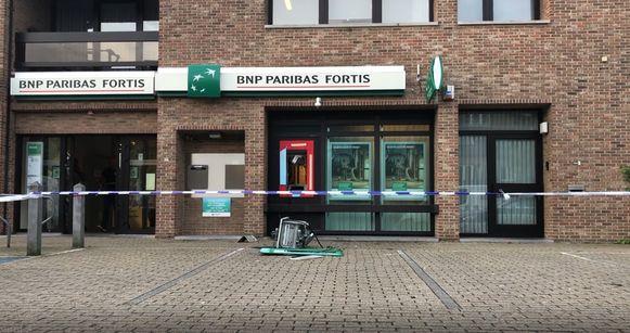 Plofkraak bij BNP Paribas Fortis in Kermt.