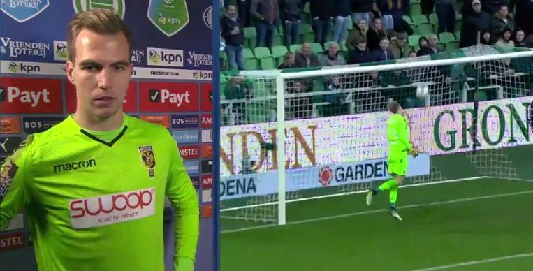 Vitesse-doelman Houwen begrijpt de dingen even helemaal niet.
