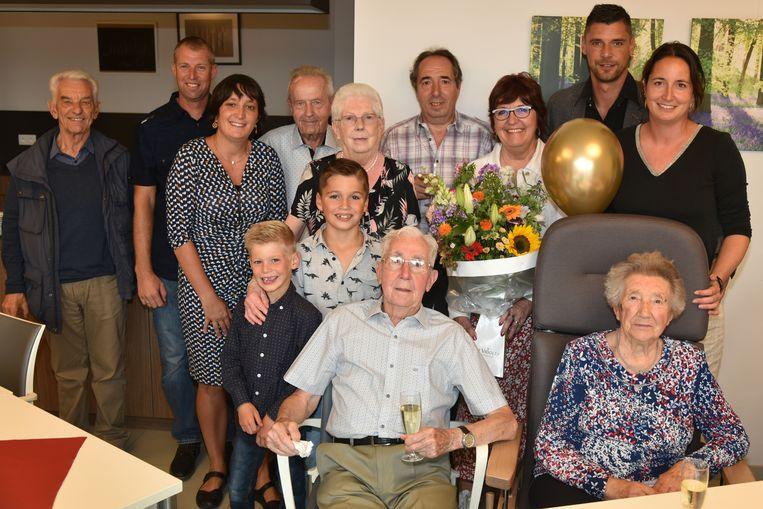 Albert Meeus en Mariette 70 jaar getrouwd in WZC Ter Burg Zaventem